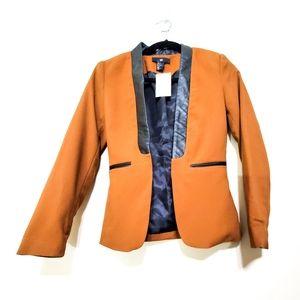 NWT H&M Vegan Trim Open Front Blazer/ Jacket